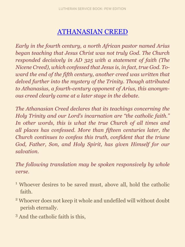 Athanasian Creed pt.1