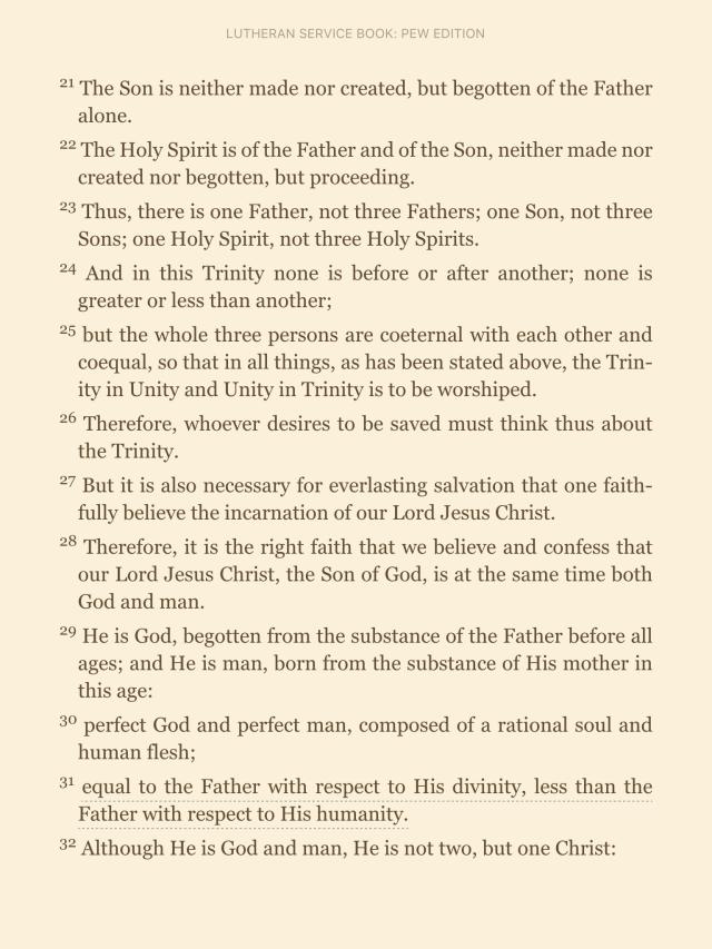 Athanasian Creed pt.3